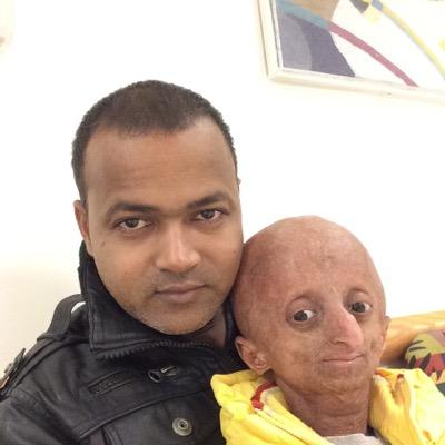 nihal with his father